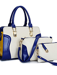 economico -Donna Sacchetti PU (Poliuretano) Tote sacchetto regola Set di borsa da 3 pezzi per Shopping Casual Formale Per tutte le stagioni Nero
