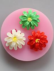 Недорогие -три цветка шоколада силиконовые пресс-формы, формы торта, мыло прессформы, отделочные инструменты Формы для выпечки