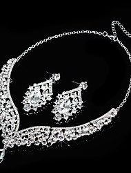 cheap -Women's Rhinestone Wedding Party Special Occasion Anniversary Birthday Engagement Alloy Earrings Necklaces
