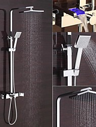 cheap -New Design Contemporary Chrome Finished 8 Inch In Wall LED Shower Set with Shower Head and Hand Shower/LED Shower Faucet