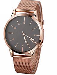 economico -Per uomo Orologio alla moda Quarzo Cronografo Lega Banda Brillanti minimalista Nero Argento Oro rosa