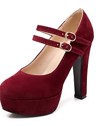 お買い得  -女性用 靴 レザーレット 春 / 夏 スティレットヒール / プラットフォーム ベージュ / レッド / ブルー / ドレスシューズ