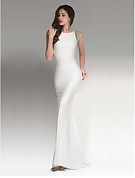 Sheath / Column Strapless Floor Length Chiffon Cocktail Party Formal Evening Dress with Beading by ARMK
