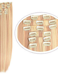 """Cheap Hair Straight Clip in Hair Extensions 22"""" 7pieces Synthetic Fiber #27/613 Mix Color Womem Hair"""