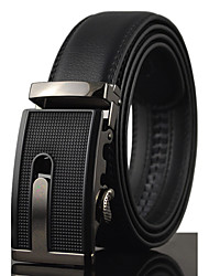 cheap -Men's Leather Wide Belt,Black Work Casual Solid