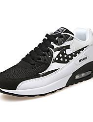 Sneakers-Stof-Komfort-Herre-Blå Grå Sort og Hvid-Udendørs Sport-Flad hæl