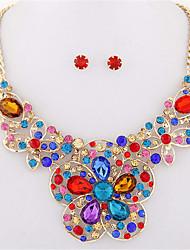 abordables -Mujer Juego de Joyas Collar / pendientes Fiesta Trabajo Joyería Destacada Europeo Fiesta Diario Piedras preciosas sintéticas Resina