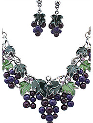 cheap -Women's Jewelry Set - Rhinestone Vintage, European, Fashion Include Necklace / Earrings Assorted Color For Wedding / Party / Daily