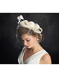 Tulle Feather Fascinators Headpiece