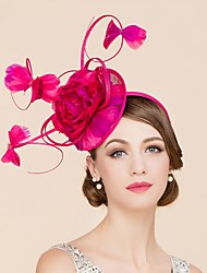 cheap -Flax Feather Fascinators Hats 1 Wedding Special Occasion Casual Headpiece