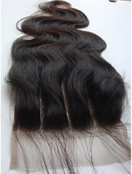 cheap -4x4 Brazilian Virgin Hair Lace Top Closure Body Wave 3 Part 10Inch