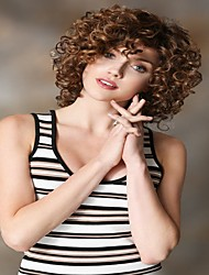 Brown Heat-resistant Fiber Curls Quality Short Synthetic Wigs For Women