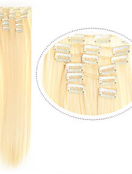 cheap -Synthetic Hair 22 inch Hair Extension Clip In Clip In / On Women's Daily