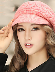 cheap -Fashion Winter Knitting Keep Solid Color Twist Warm Cap