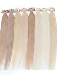 cheap -Fusion /U Tip Human Hair Extensions Human Hair Straight Women's Daily