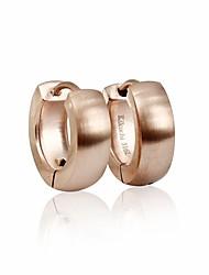 cheap -Silk Surface Round Cutting Huggie Earrings