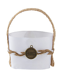 6pc Yellow Jute Fabric Favor Tins and Pails Basket for Wedding Flower /Candy Decoration (8.5 * 8.5 *6cm)