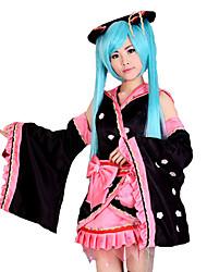 billiga -Inspirerad av Vocaloid Hatsune Miku Video Spel Cosplay-kostymer cosplay Suits Lappverk Kimono Kappa