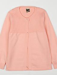 preiswerte -Bluse Alltag Solide Baumwolle Herbst Grau Fuchsia Rosa