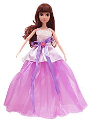 11.5-Inch High-End High-End Dress Dress Dress Wedding Dress Purple (Without Baby)