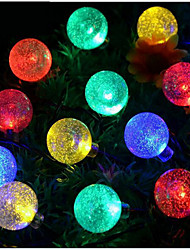 Warm White / Natural White / Colorful  Bubble Ball Waterproof 30LED Solar String Lights