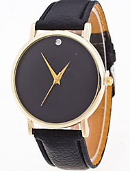 cheap -Women/Lady's Simple Pure Color Case Leather Band Analog Quartz Watch