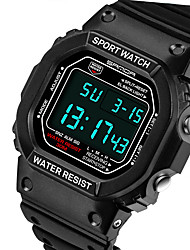 SANDA® Men's Fashion Rectangle Digital LCD Screen Waterproof Sport Watch Fashion Wrist Watch Cool Watch