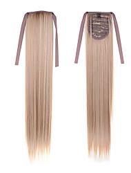 abordables -2016 nueva 22inch pelo cola de caballo (55 cm) de largo barata recta pelo # 27/613 color mezclado cinta de cola de caballo pelo sintético