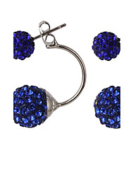 cheap -Multicolor Luxury Both Sides Wear Candy-colored Crystal Ball Diamond Fashion Earrings