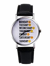 Fashion Women's Watch Watch Letter Watch Week Emoticons Sunday Word Watches Quartz Wrist Watch