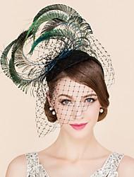 abordables -Mujer Pluma Tul Celada-Boda Ocasión especial Casual Tocados Sombreros 1 Pieza