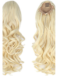 cheap -synthetic 20 inch 150g long curly clip in micro ring ponytail hairpiece extensions excellent quality