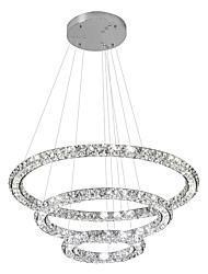 Indoor Decoration lighting LED Crystal Ceiling Pendant Lights Chandeliers Lamp with 3Rings 67.5W D305070CM CE FCC ROHS