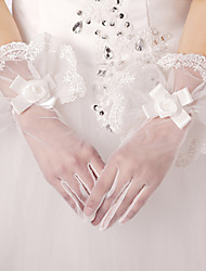 Opera Length Fingerless Glove Lace / Polyester / Tulle Bridal Gloves / Party/ Evening Gloves