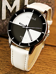 cheap -Couple's Fashion Watch Quartz Casual Watch PU Band Black White Red Pink