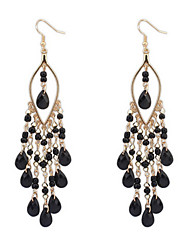 Bohemian Exaggerated Fashion Beads Tassel Earrings Elegant Style