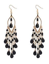 economico -stile bohémien esagerato moda perline orecchini stile elegante