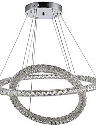 cheap -Newest LED Crystal Ceiling Pendant Lights Chandeliers Lamp with 2Rings 60W D6080CM CE FCC ROHS