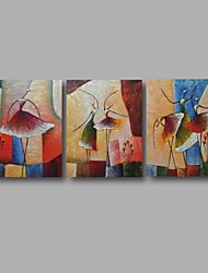 """Stretched (Ready to hang) Hand-Painted Oil Painting 60""""x28"""" Canvas Wall Art Modern Abstract Dance Girls"""