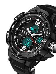 Недорогие -Муж. Спортивные часы Армейские часы Модные часы Цифровой LCD Календарь Секундомер С двумя часовыми поясами Фосфоресцирующий силиконовый