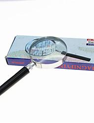 cheap -Handheld 6X 60mm Metal Round Glass Magnifier