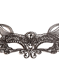cheap -Black Sexy Lady Lace Mask Cutout Eye Fox for Masquerade Party Fancy Dress Costume