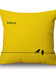 cheap -1pcs Cotton/Linen Pillow Cover,Textured Quotes & Sayings Casual Modern/Contemporary Accent/Decorative