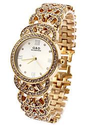 Women's Fashion Watch Simulated Diamond Watch Casual Watch Imitation Diamond Quartz Stainless Steel Band Sparkle White Gold