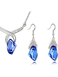 Women's Fantasy Wishing Stone Necklace Earring Set