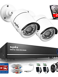 SANNCE® 4CH 720P Camera  AHD Vedio DVR CCTV Home Surveillance Security Camera System Built-in 1TB HDD