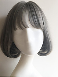 2016 Hot Sale Harajuku Grey Short Lovely Girl Wig Daily Wearing Lolita Cosplay Wigs Party Wig