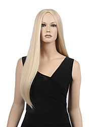 Capless Blonde Color High Quality Long Straight Synthetic Wigs