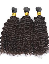 "cheap -3pcs/lot Kinky Curly Hair Bulk 12""-28""Mongolian Human Braiding Hair Bulk for Braiding Human Hair No Attachment"