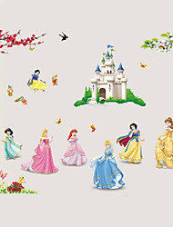 cheap -Snow White 7 Princess Fairy Tale World Cartoon Wall Stickers DIY Family Living Room Bedroom Kindergarten Wall Decals